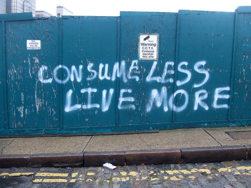 consume less live more by grahamc99